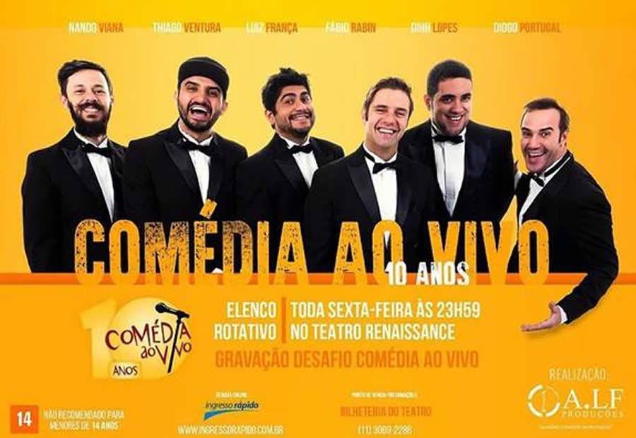 3e40b0669 Saiba quais são os melhores espetáculos de comédia ao vivo em São Paulo e  em cartaz